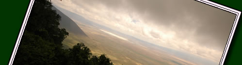 Ngorongoro is a world heritage site and home to 75000 animals